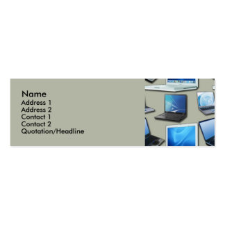 Laptops Profile Cards Double-Sided Mini Business Cards (Pack Of 20)