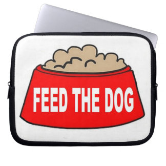 LaptopSleeve Dog Food Bowl Red Feed The Dog Computer Sleeve