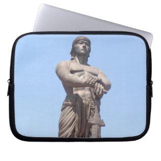 lapu lapu statue laptop computer sleeve