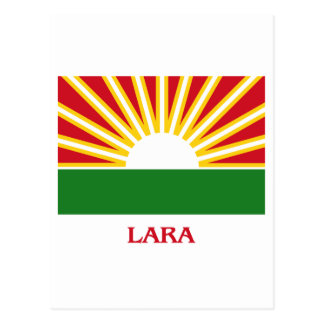 Lara Flag with Name Postcard