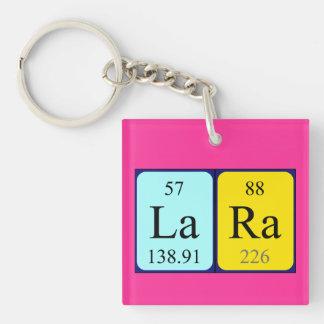 Lara periodic table name keyring keychain
