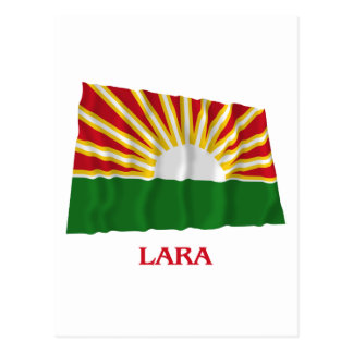 Lara Waving Flag with Name Postcard