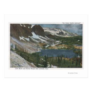 Laramie, WY - Lake Marie and Snowy Range on Unio Postcard