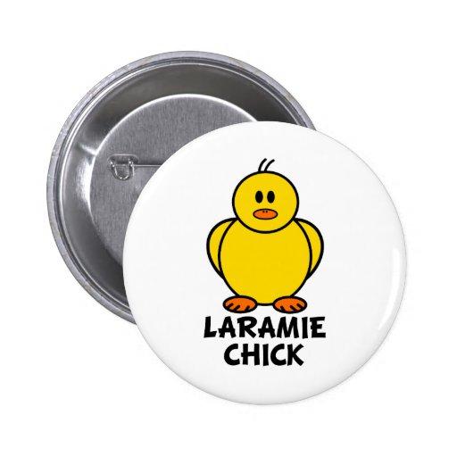 Laramie Wyoming Chick Pin