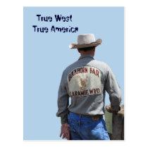 Laramie Wyoming Cowboy Postcard