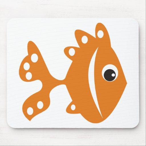 laranj del peixe tapete de raton
