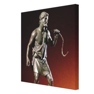Lararium statuette of a water carrier canvas print