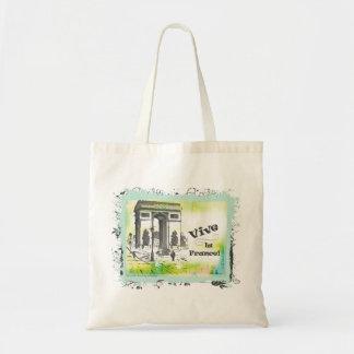 L'Arc de Triomphe Collage Art Canvas Bag