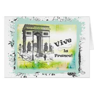 L'Arc de Triomphe Collage Art Card
