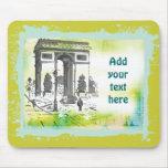 L'Arc de Triomphe Collage Art Mouse Pad