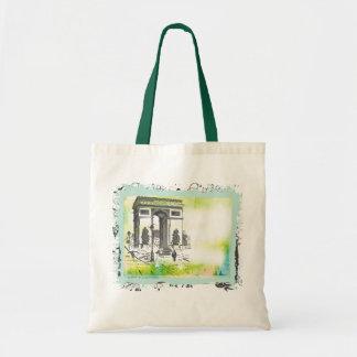 L'Arc de Triomphe Collage Canvas Bag