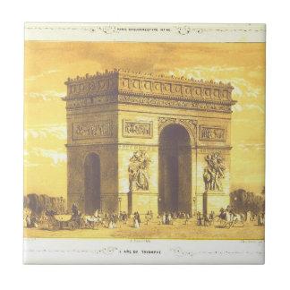 L'Arc de Triomphe, París 1840 Azulejo Cuadrado Pequeño