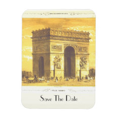 L'arc De Triomphe, Paris 1840 Save The Date Magnet at Zazzle