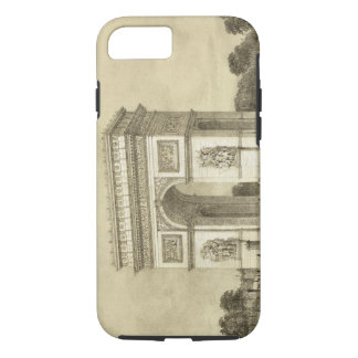 L'Arc de Triomphe, Paris, engraved by Auguste Bry iPhone 8/7 Case