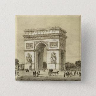 L'Arc de Triomphe, Paris, engraved by Auguste Bry Pinback Button