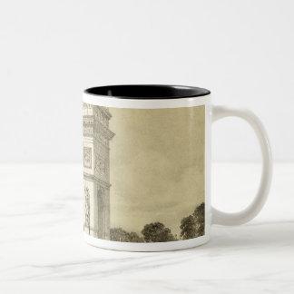 L'Arc de Triomphe, Paris, engraved by Auguste Bry Two-Tone Coffee Mug