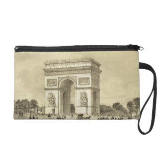 L'Arc de Triomphe, Paris, engraved by Auguste Bry Wristlet Purse