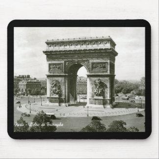 L'Arc de Triomphe, Paris France Vintage Mouse Pad