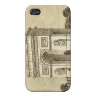 L'Arc de Triomphe, París, grabada por Auguste Bry iPhone 4/4S Carcasa