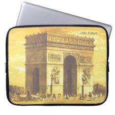 L'arc De Triomphe, Paris, Vintage 1840 Laptop Sleeve at Zazzle