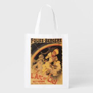 L'Arc-en-Ciel Ballet at Folies-Bergere Reusable Grocery Bag
