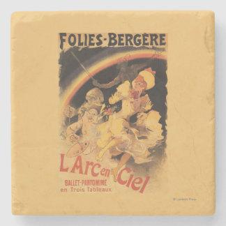 L'Arc-en-Ciel Ballet at Folies-Bergere Stone Coaster