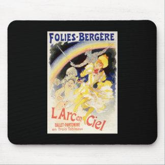 L'Arc-en-Ciel de Julio Cheret Folies-Bergere Alfombrillas De Raton