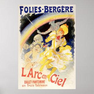 L'Arc-en-Ciel de Julio Cheret Folies-Bergere Póster