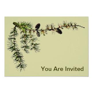 Larch Branch 5x7 Paper Invitation Card