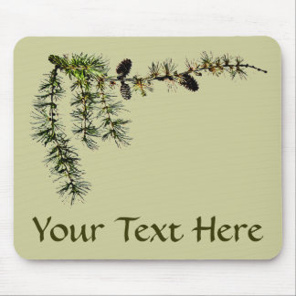 Larch Branch Mouse Pad