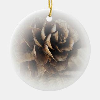 Larch Cone Ceramic Ornament