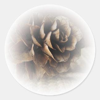Larch Cone Classic Round Sticker