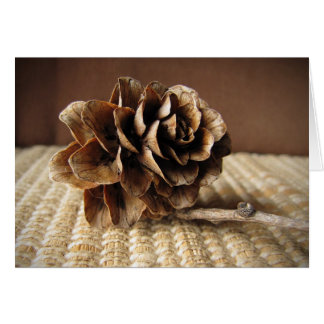 Larch Cone Thank You Card