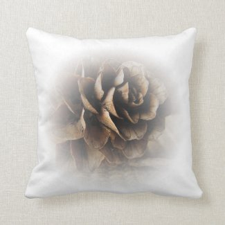 Larch Cone Throw Pillow