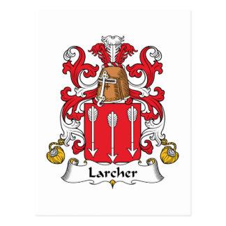 Larcher Family Crest Postcard