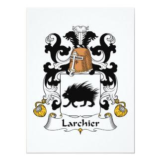 Larchier Family Crest 6.5x8.75 Paper Invitation Card