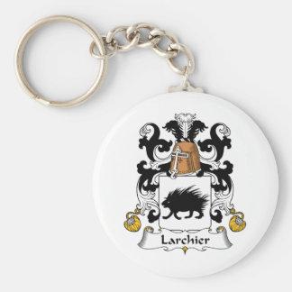 Larchier Family Crest Basic Round Button Keychain