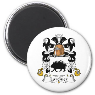 Larchier Family Crest 2 Inch Round Magnet