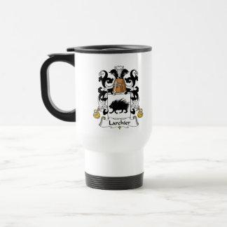 Larchier Family Crest 15 Oz Stainless Steel Travel Mug