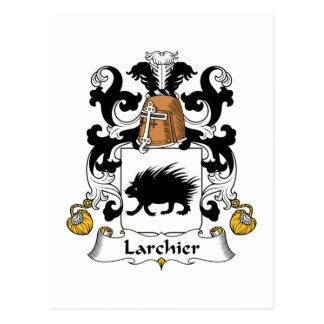Larchier Family Crest Postcard