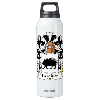 Larchier Family Crest 16 Oz Insulated SIGG Thermos Water Bottle