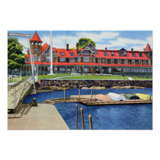 Larchmont New York Yacht Club Poster
