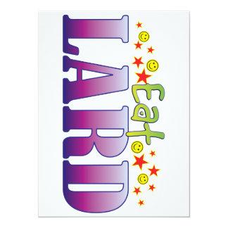 Lard Eat 5.5x7.5 Paper Invitation Card