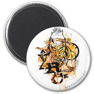 Larfleeze - Agent Orange 11 Imán Redondo 5 Cm