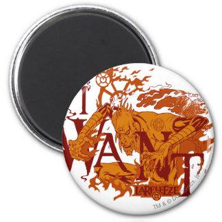 Larfleeze - Agent Orange 12 Imán Redondo 5 Cm