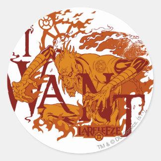 Larfleeze - Agent Orange 12 Pegatina Redonda