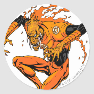 Larfleeze - Agent Orange 1 Etiquetas Redondas