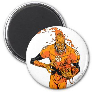 Larfleeze - Agent Orange 4 Imán Redondo 5 Cm