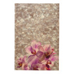 In a body (24X36) WOOD PANEL MOTHER OF PEARL & ORCHIDS WOOD PRINT