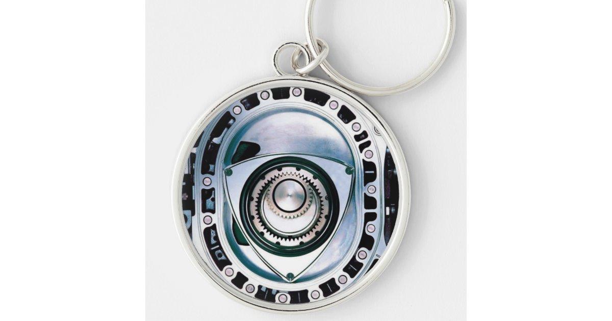 "Large (2.125"") Premium Round Rotary Keychain | Zazzle.com"
